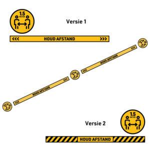 Bedrukte Corona Sticker set